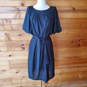 1980s Anthony Richards Black, Semi-Sheer Dress